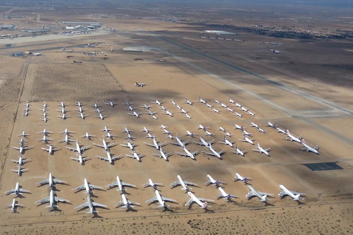 Cimetiere Avion Usa voler dans l'ouest des usa